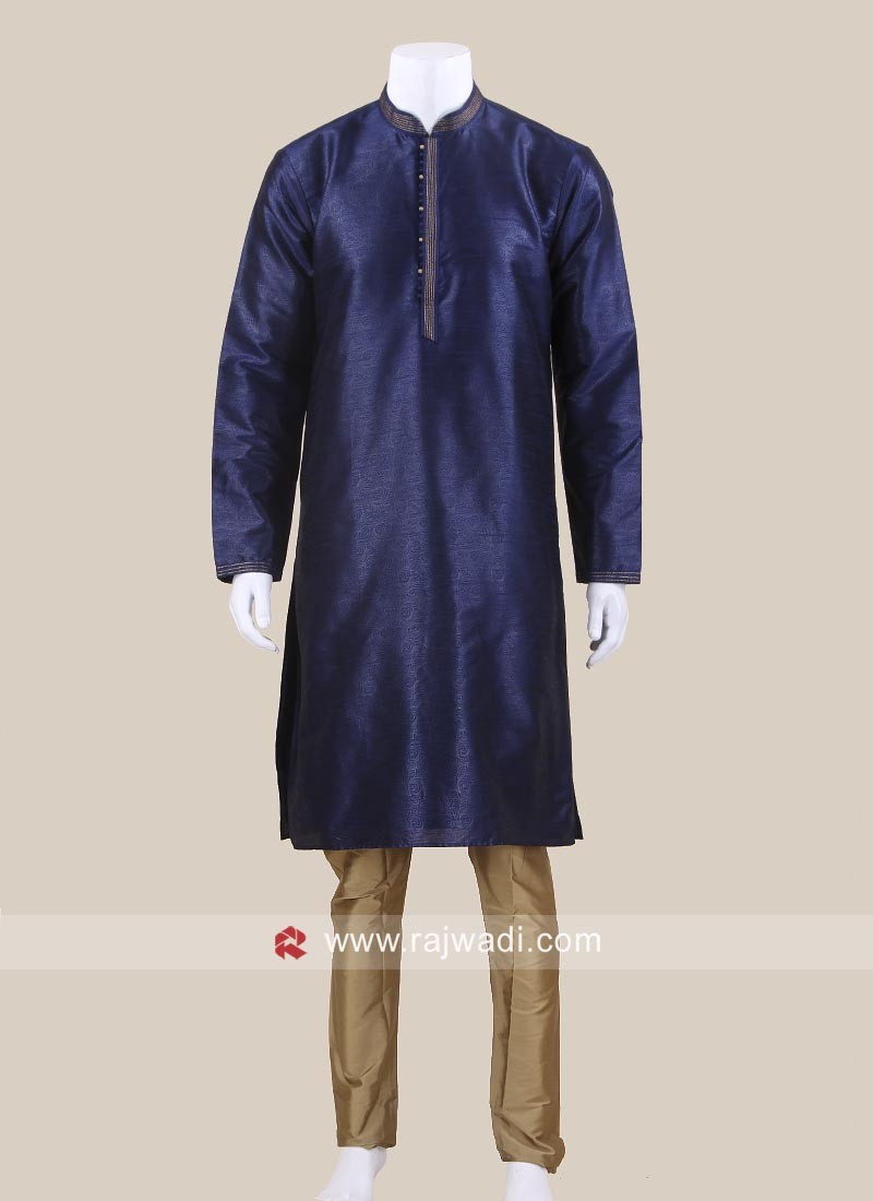 Blue Color Kurta Pajama For Sangeet