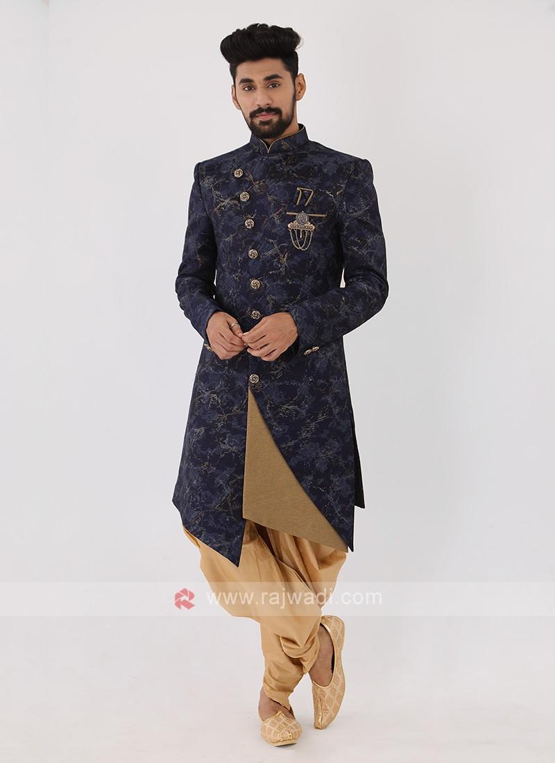 Blue Color Mens Indo-Western