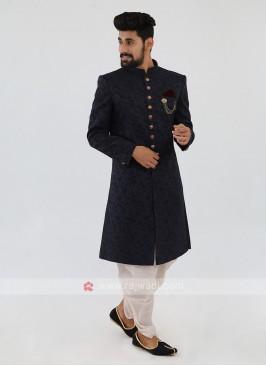 Blue Color  Nawabi Indo-Western