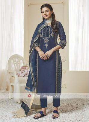 Shagufta Blue Color Pant Salwar Suit