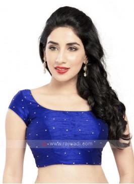 Royal Blue Color Ready Blouse