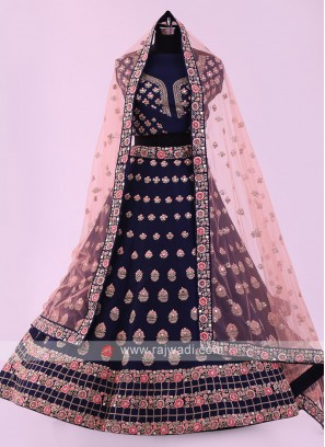 Blue Color Silk Lehenga Choli