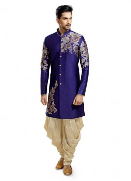 Blue Colored Kurta With Patiala