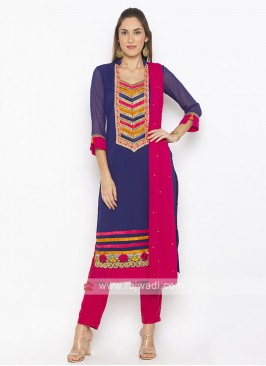 Blue Colour Salwar Suit