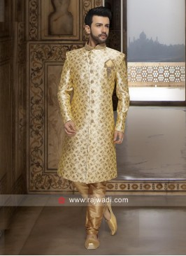Stylish Golden Color Indo Western