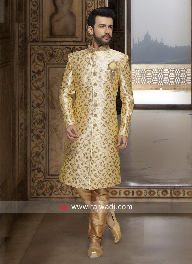 Stylish Golden Color Indo Western