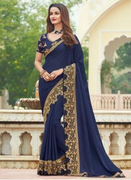 Blue Engagement Designer Saree