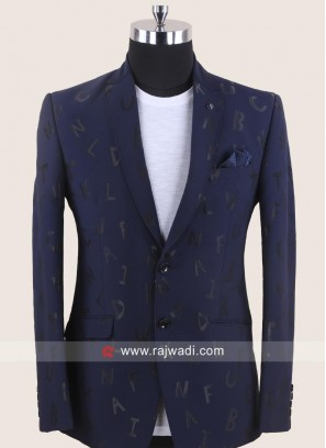 Blue Imported Fabric Blazer