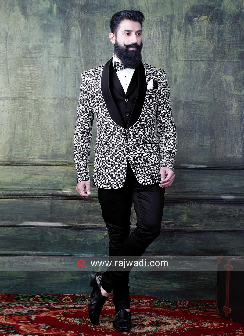Designer White Imported Suit