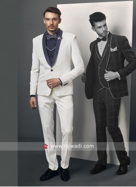 White Imported Fabric Suit
