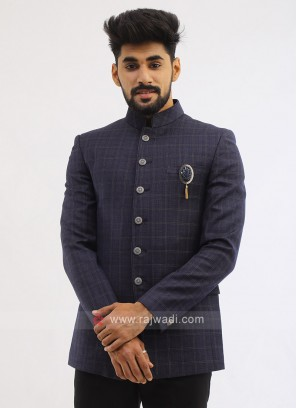 Blue Imported Jodhpuri Suit