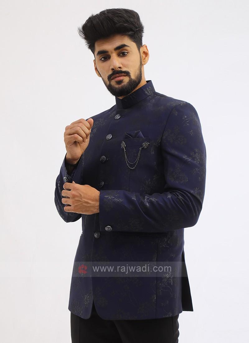 Blue Imported Jodhpuri Suit