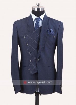 Blue Imported Suit For Wedding