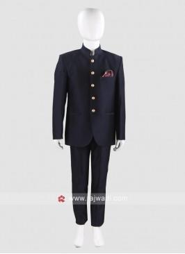 Blue Jodhpuri Suit For Boys