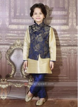 Blue Nehru Jacket For Boys