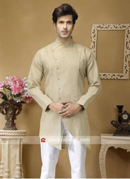 Beige Party Wear Kurta