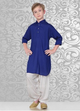 Blue Party Wear Pathani Suit