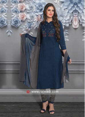 Blue Party Wear Salwar Suit