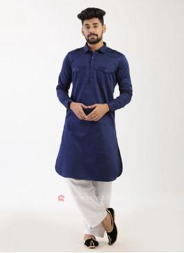 Blue Pathani Suit
