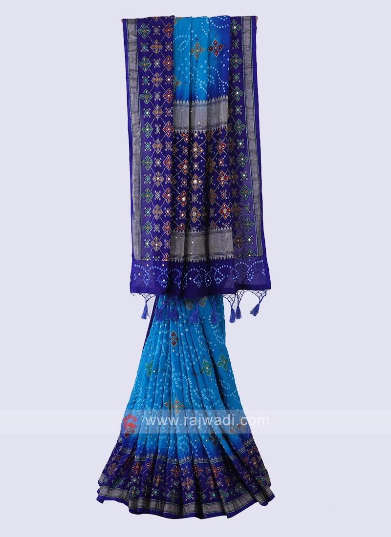 Beautiful Bandhani Saree