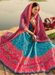Blue Silk Readymade Lehenga Choli