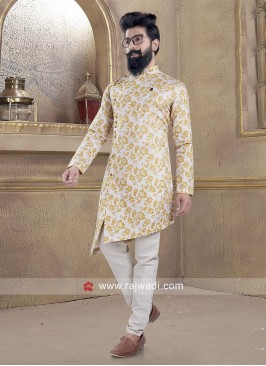Attractive Linen Pathani Suit