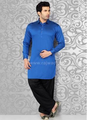 Blue Voile Pathani Suit