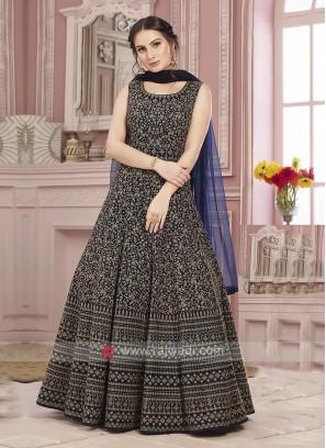 Blue Wedding Anarkali Suit