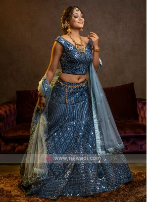 Blue Wedding Lehenga Choli