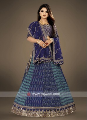 blue wedding wear Lehenga Choli suit
