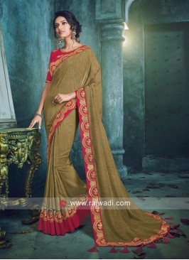 Border Work Designer Saree
