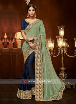 Border Work Half n Half Saree