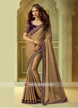 Border Work Party Wear Saree