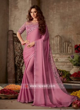Border Work Saree with Blouse