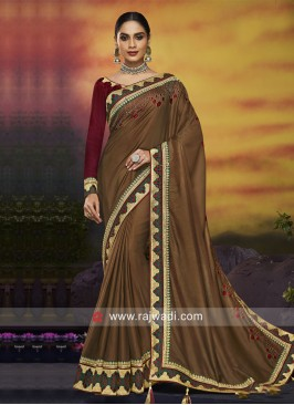 Border Work Wedding Saree