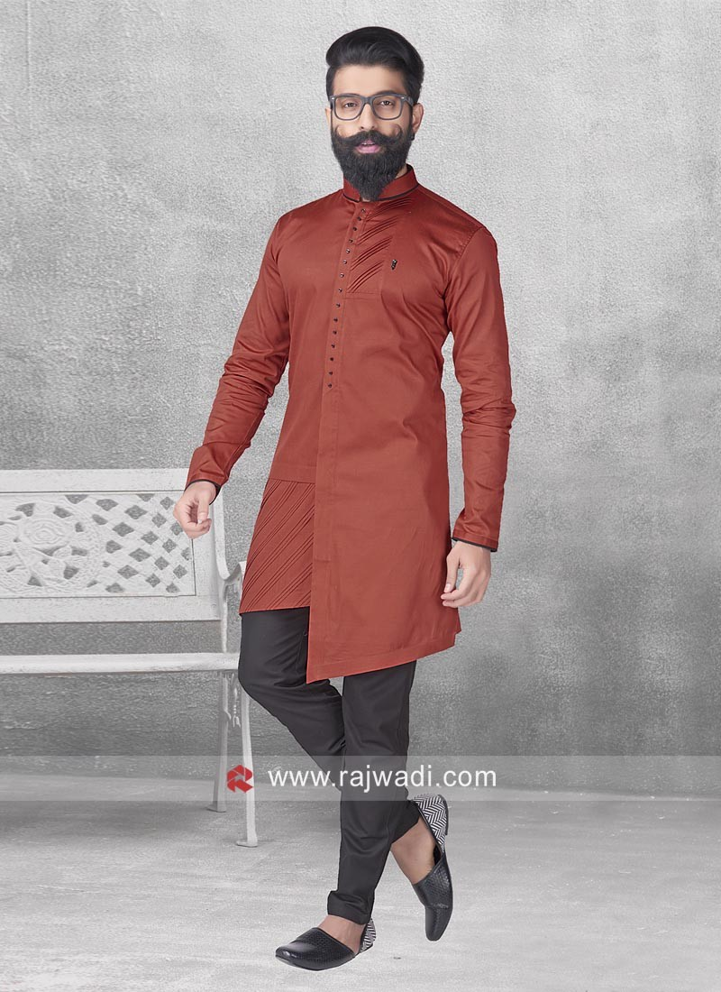 Marvelous Maroon Color Pathani