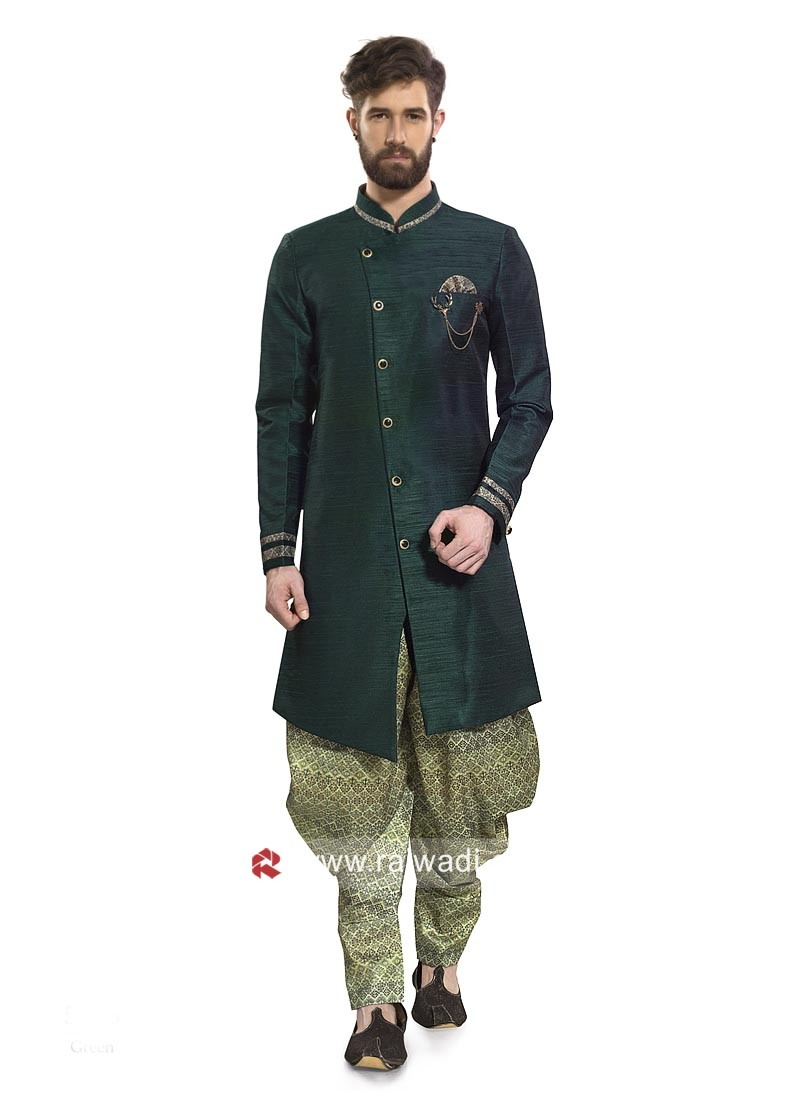 Bottle Green Color Patiala Suit