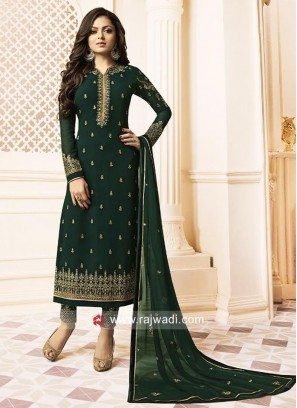 Bottle Green Drashti Dhami Salwar Kameez