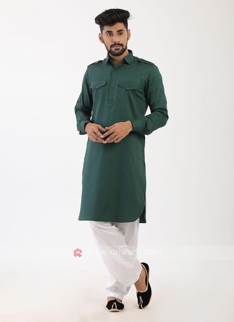 Rama Green Pathani Suit