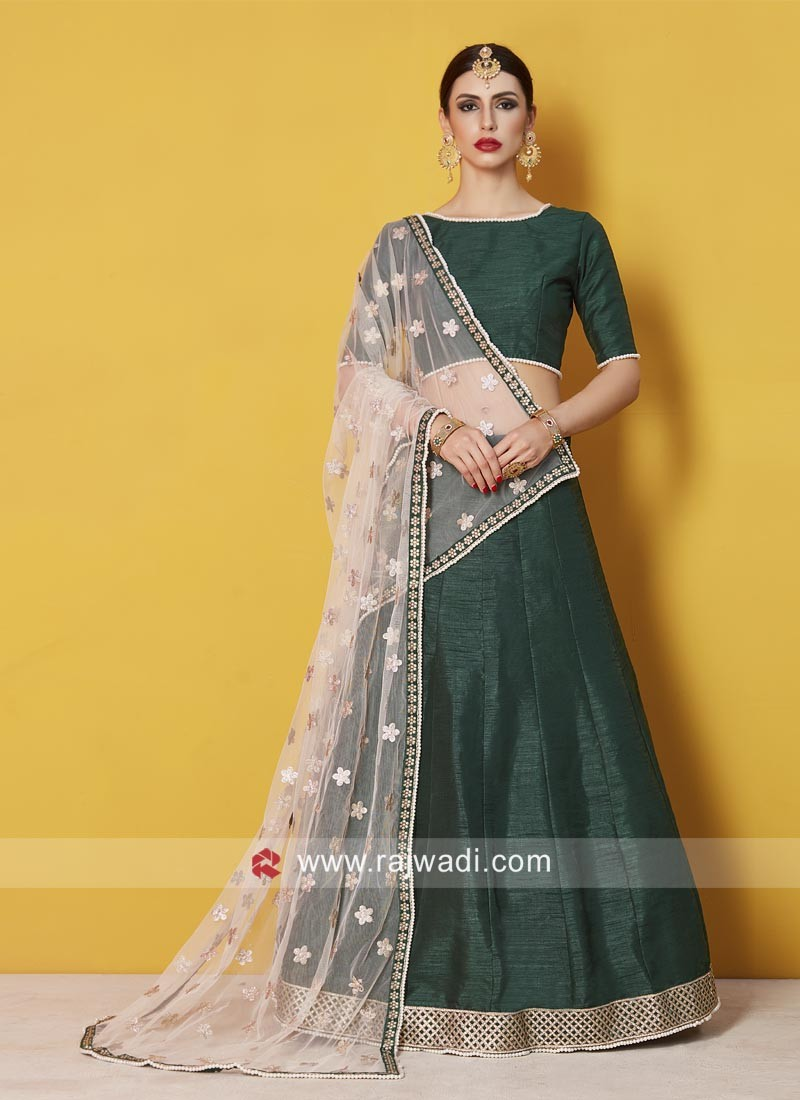 Bottle Green Wedding Lehenga Choli