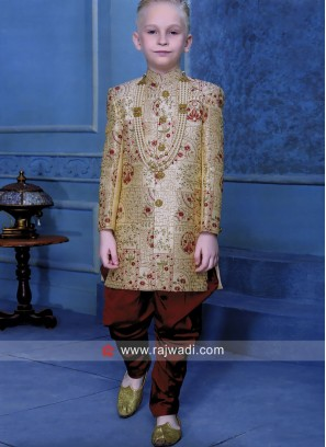 Boys Art Silk Indo Western