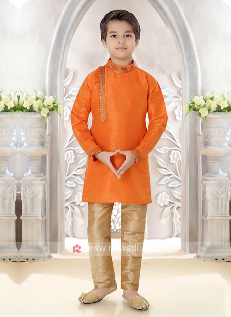 Boys Art Silk Kurta Pajama