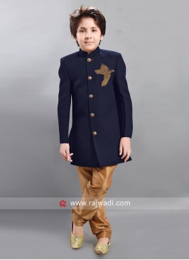 Boys Art Silk Wedding Trouser Suit