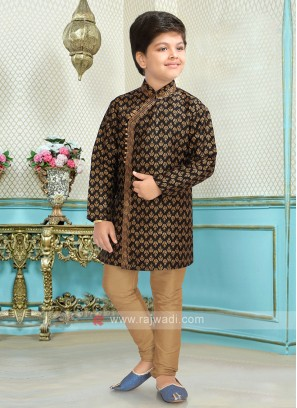 Boys Black Kurta Pajama