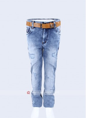 Boys Blue Regular Fit Jeans