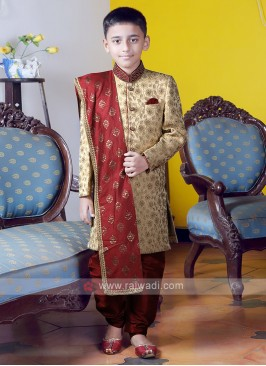 Boys Brocade Silk Indo-Western