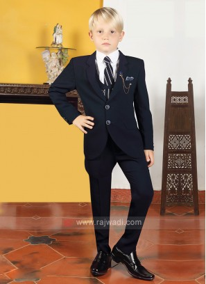 Boys Dark Blue Imported Suit