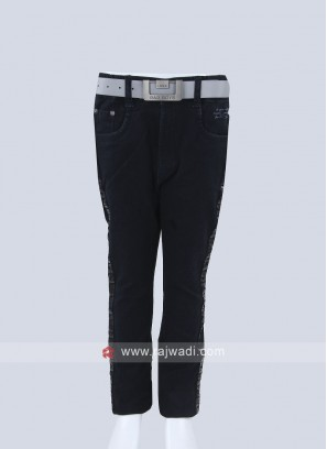 Boys Dark Blue Regular Fit Jeans