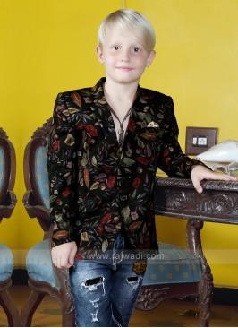 Boys Flower Printed Blazer