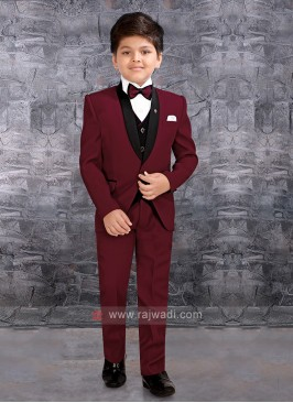 Boys Maroon Wedding Suit